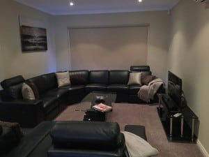 black couched apartment