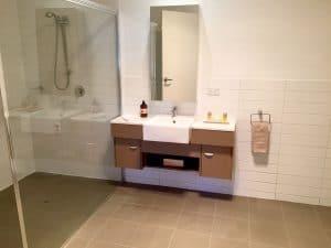 spacious modern shower