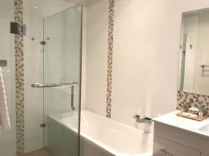 marble designed bathroom