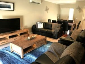 lounge room with tv
